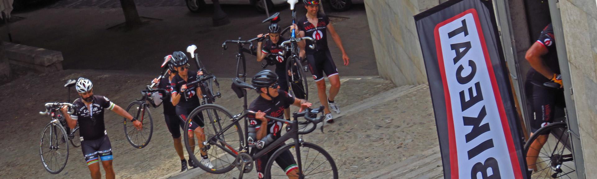 returning to BIkecat Bike shop in Girona