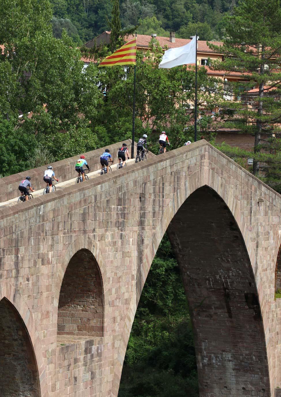 Medieval bridge crossing at Sant Joan de les Abadesses